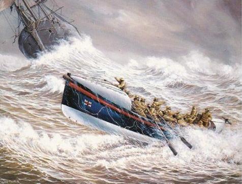 Lifeboat HELEN BLAKE heading towards the MEXICO