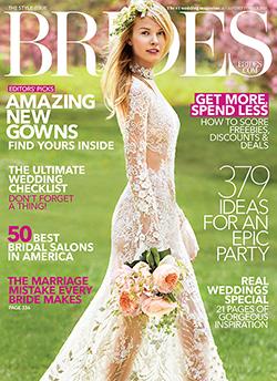 Brides magazine, July/August 2015