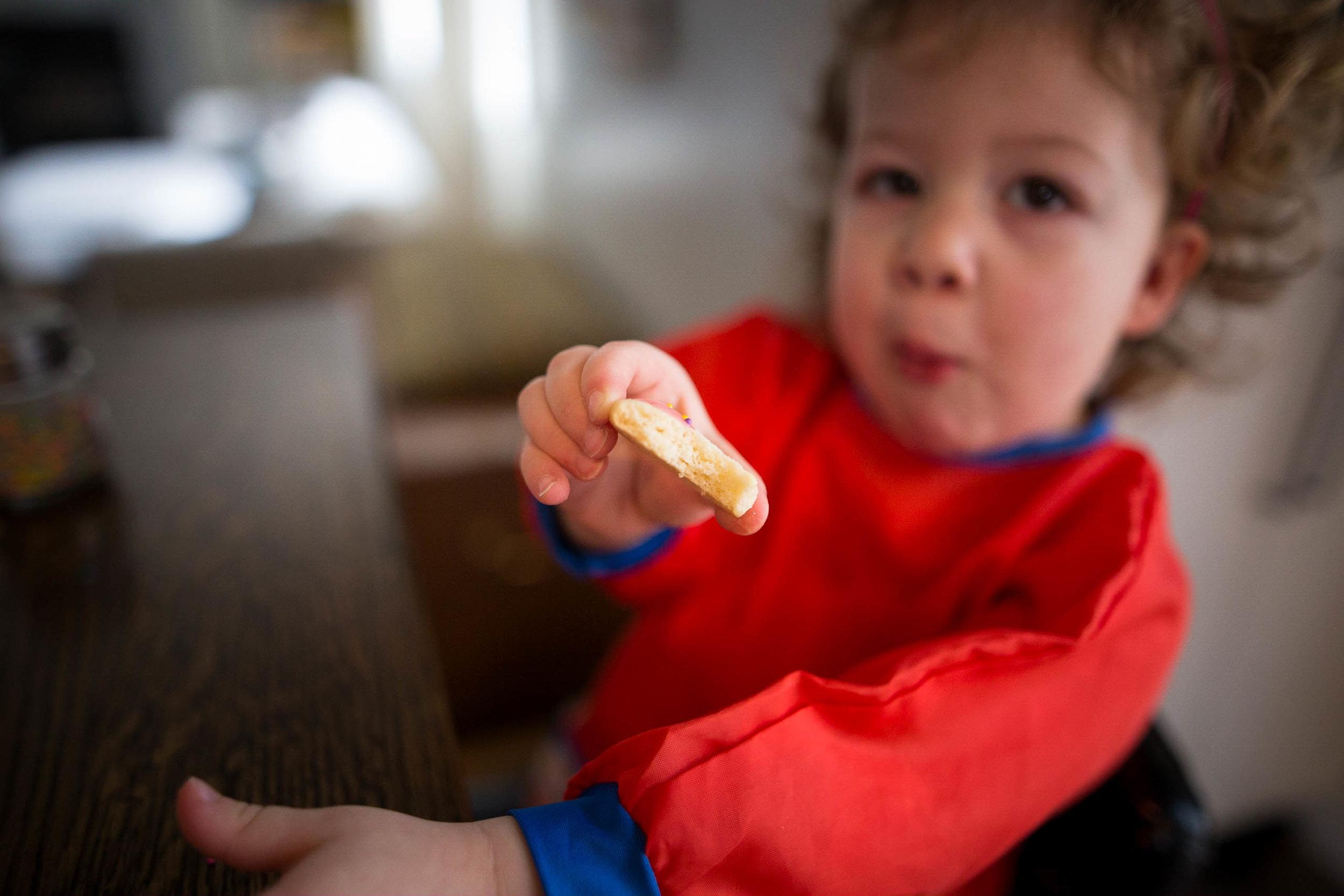little girl eating cooke Edmonton