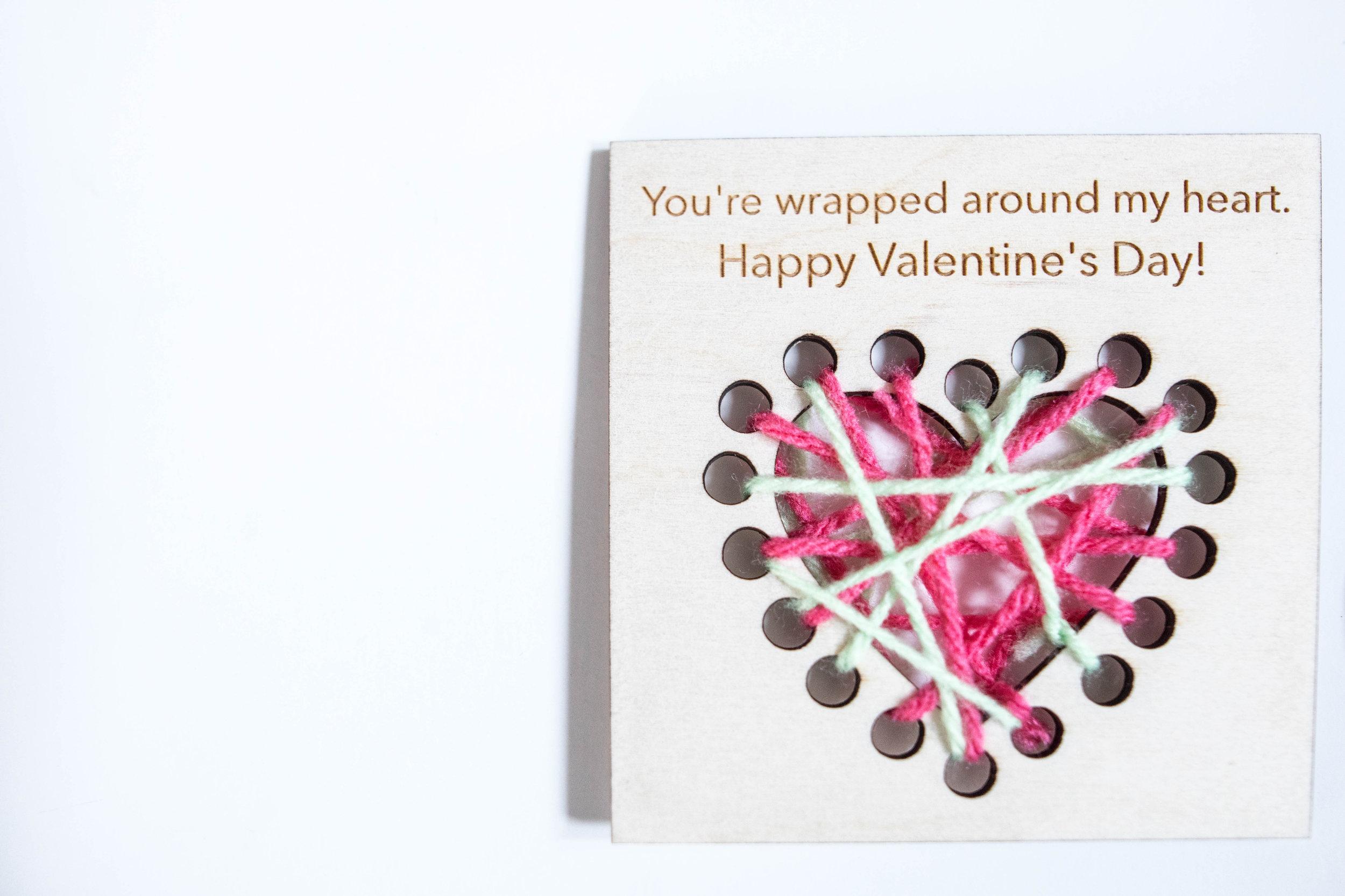 wooden valentines craft