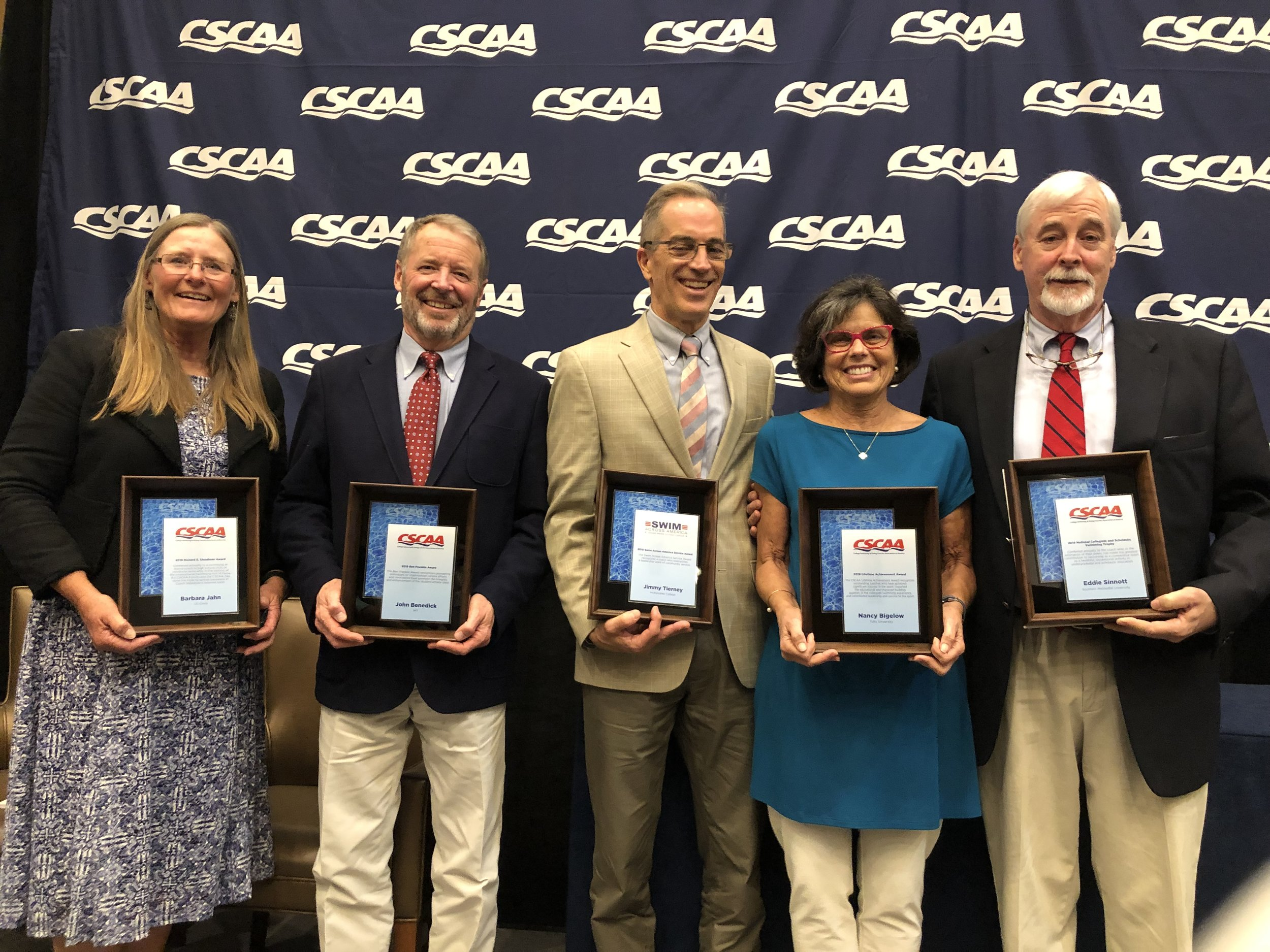 2019 Award winners - barbara jahn, john benedick, jimmy tierney, nancy bigelow, eddie sinnott