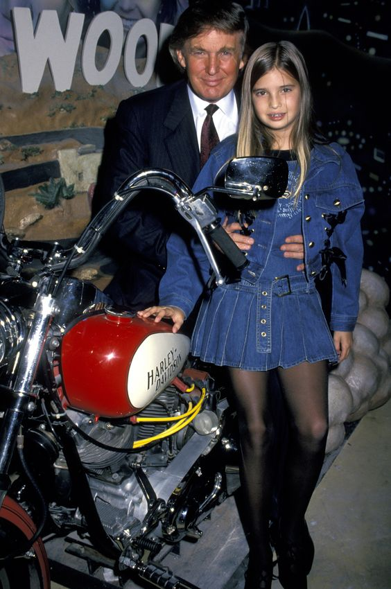 Donald Trump and Daughter Ivanka during Grand Opening of The Harley Davidson Cafe at Harley Davidson Cafe in New York City, New York, United States