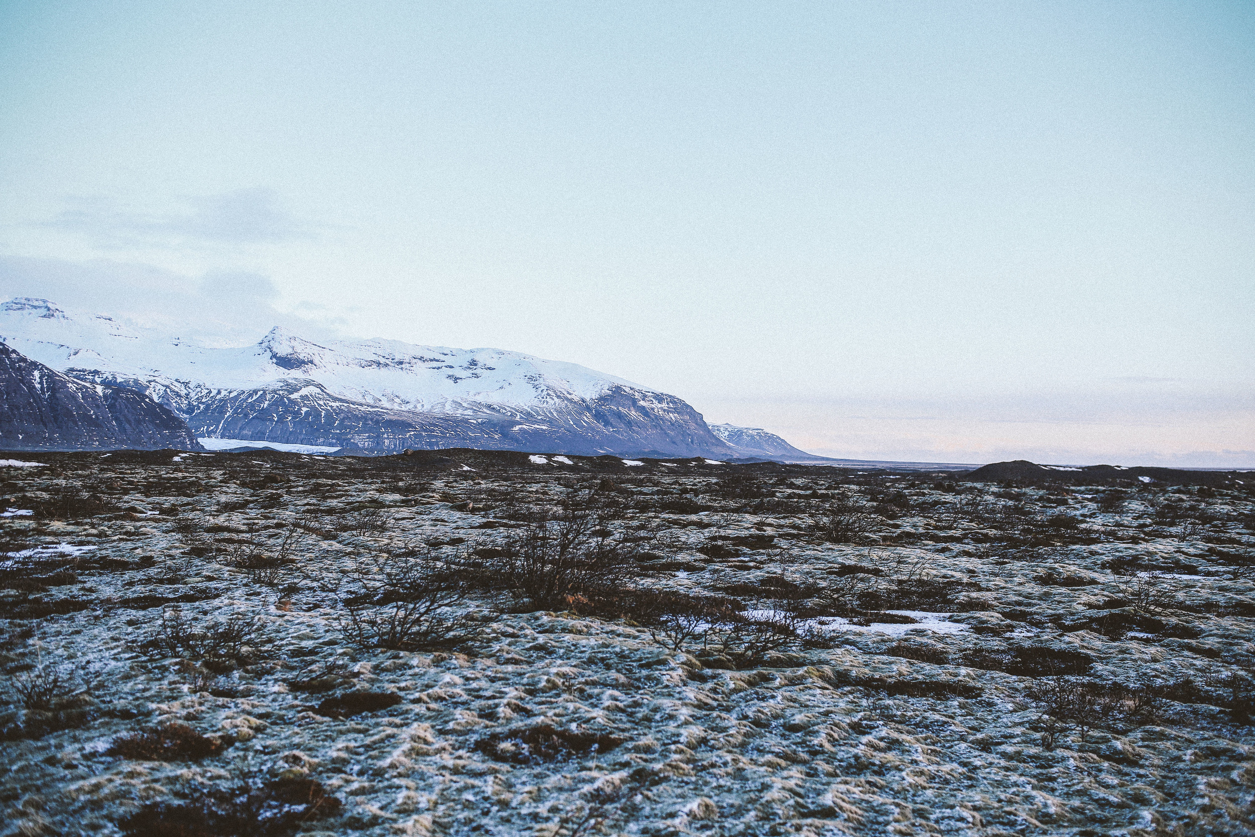 Frosted Icelandic Mountains