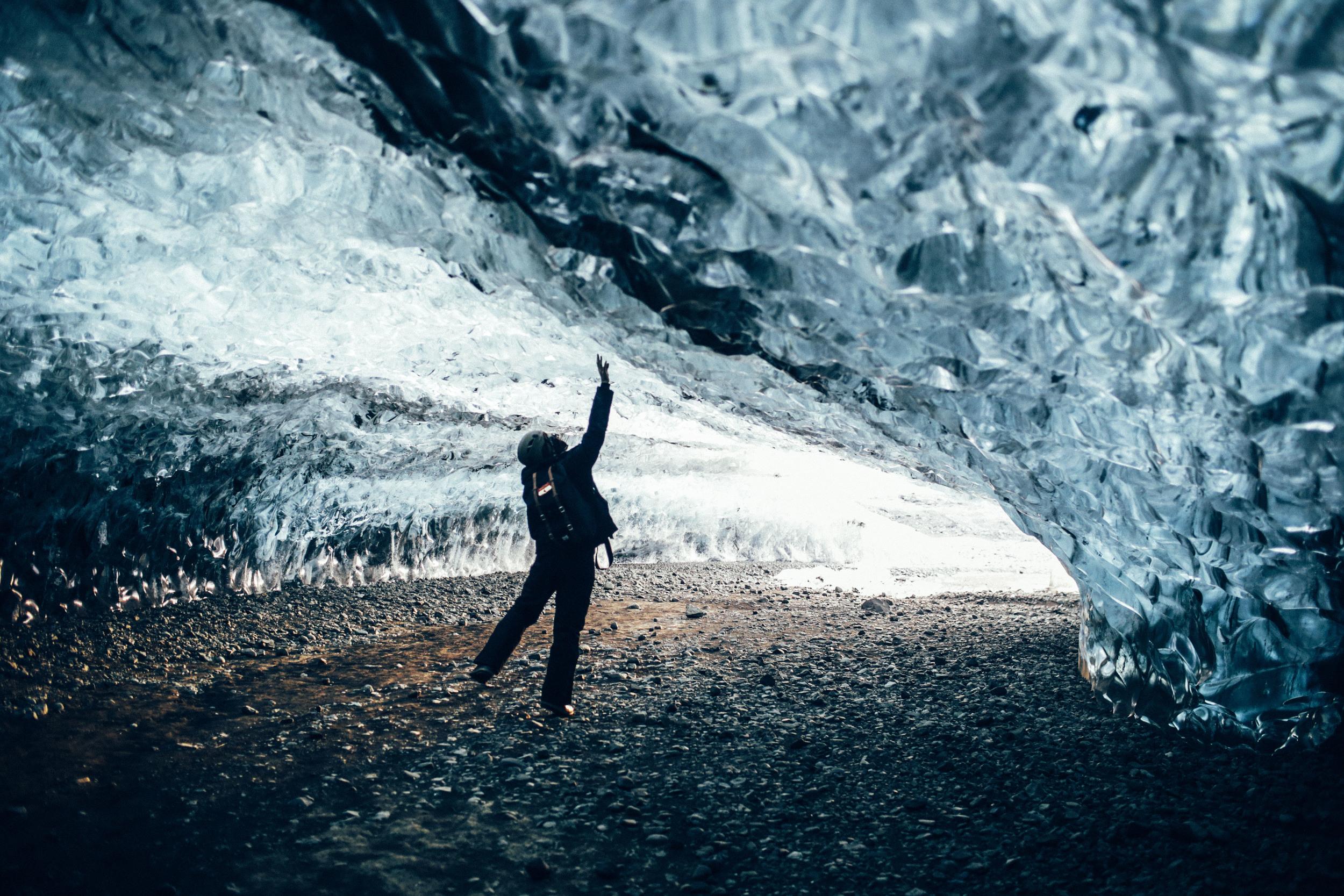 Rich Inside Vatnajökull Ice Caves