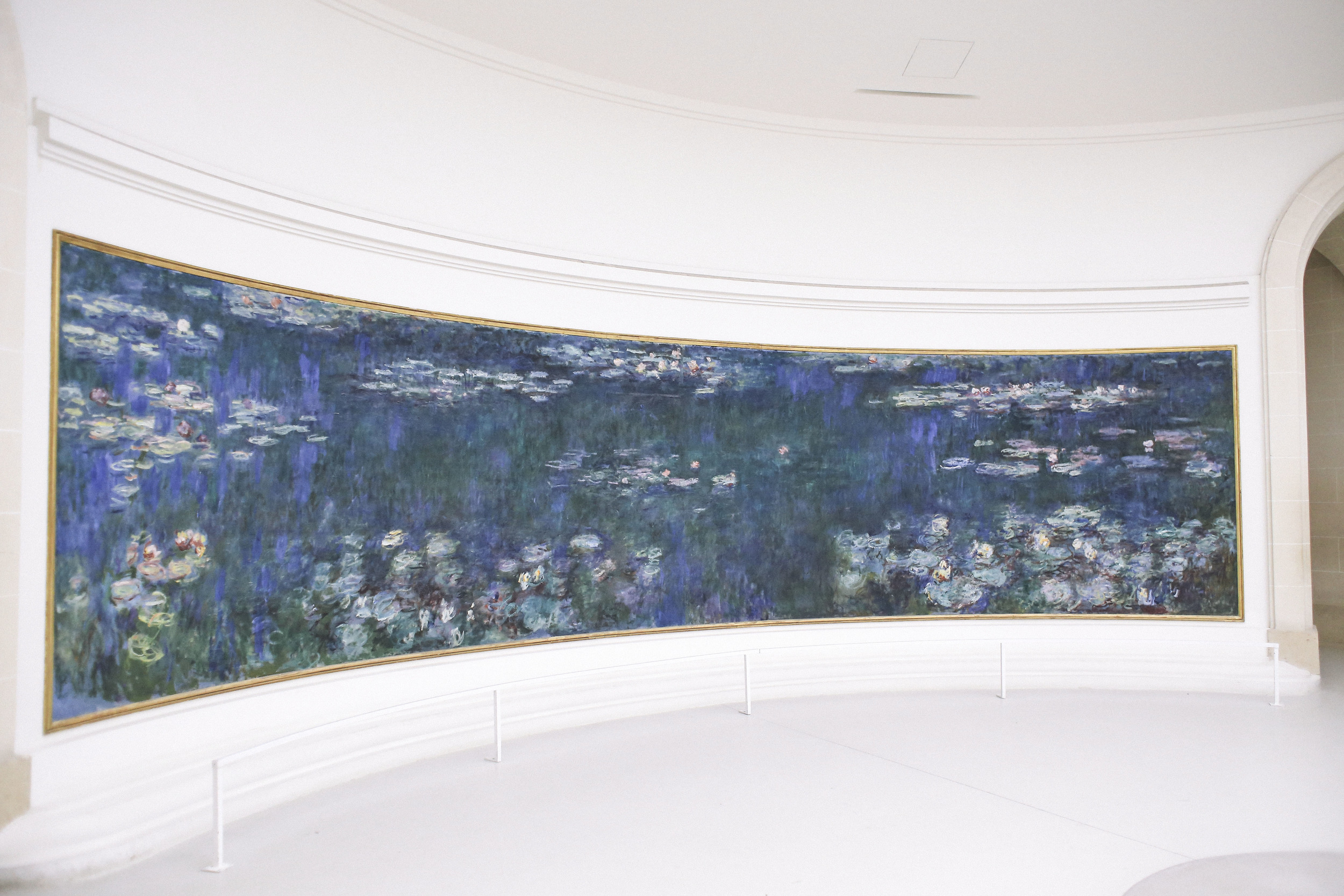 Inside the Musee de l'Orangerie