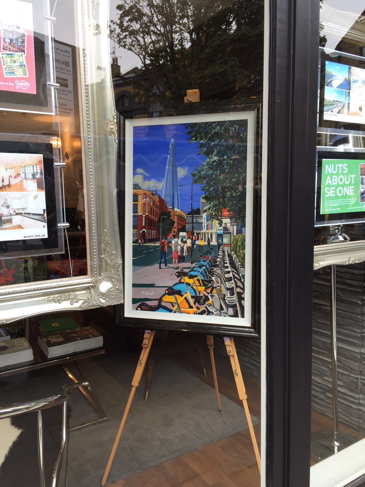 The Shard Painting | Acorn Estate Agents | Artist | M.Rodwell
