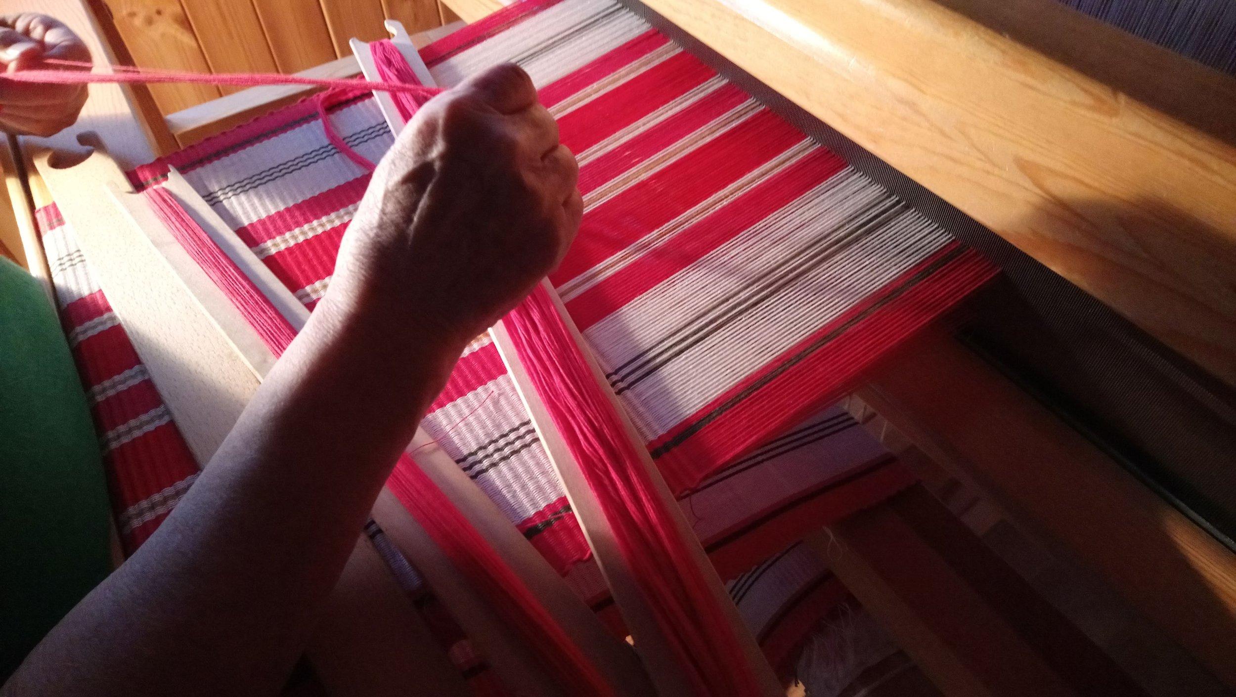 'Handmade by Inger' - Table runner | Scandinavian fabric