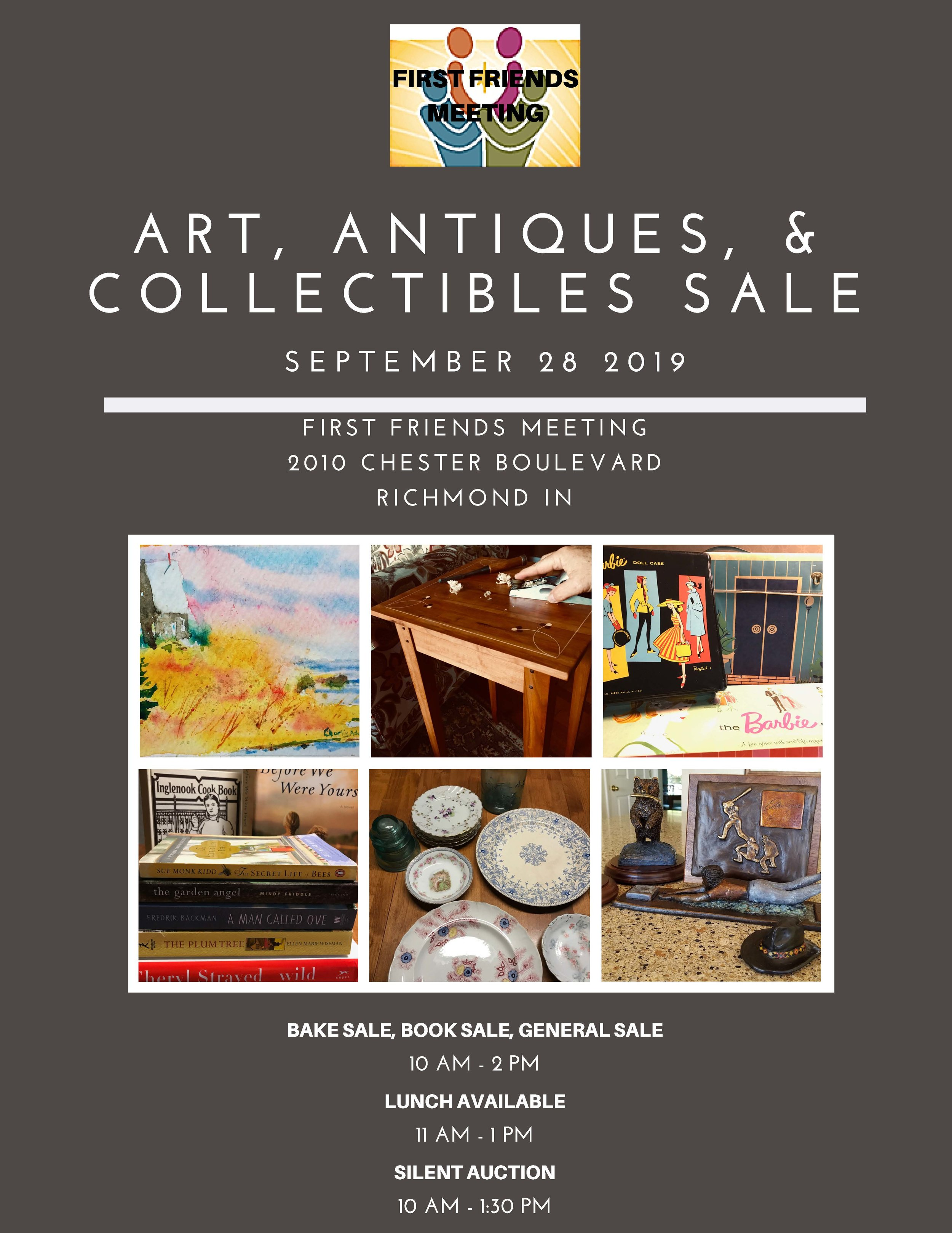 First Friends Art, Antiques, and Collectables Sale Sept 28.jpg