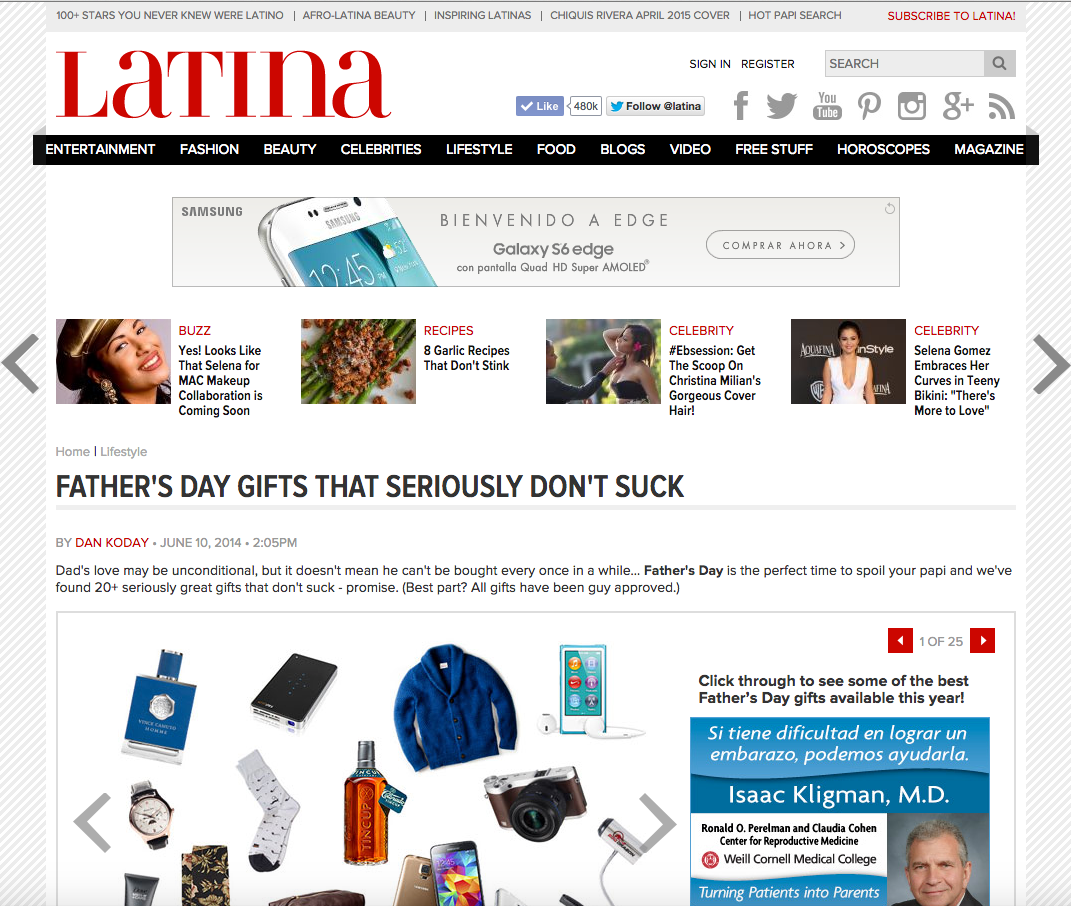 Latina: The Best Father's Day Gifts