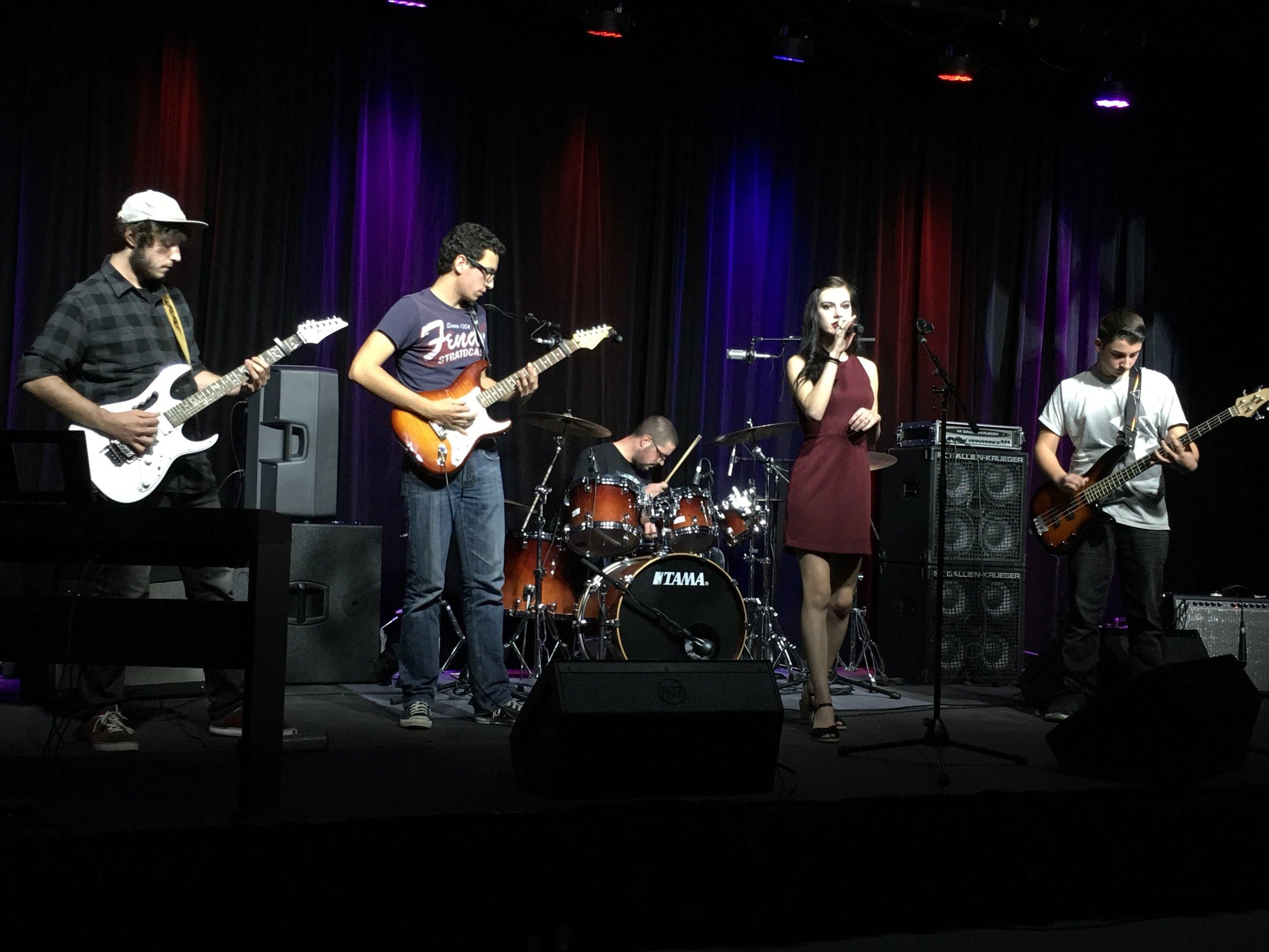 Left to Right: Tom Alessi, Matt Mangine, (Nate Richards filling in for drummer Craig John), Sam Treloar, Nick Cianci