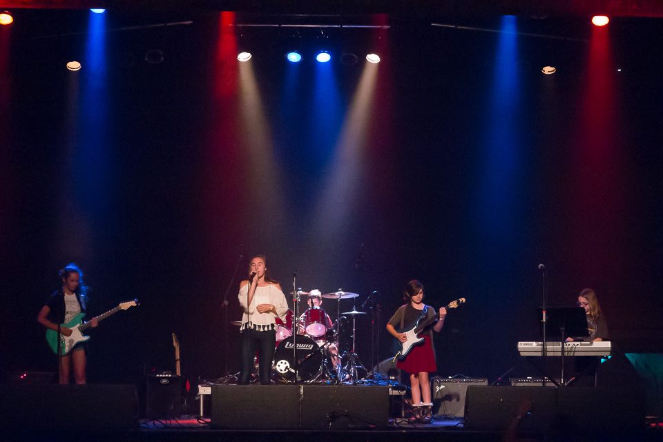 The Fridays at The Trocadero. Left to Right: Isabella Ganfield, Alicia Bartosik, Charles Bogert, Emma Nophut, Madison Oreski