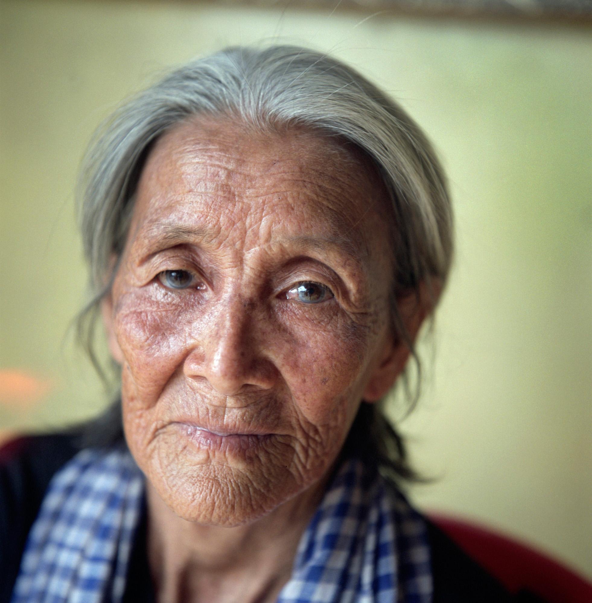 Portrait of Nget Khun, the eldest of the Boeung Kak women protestors.