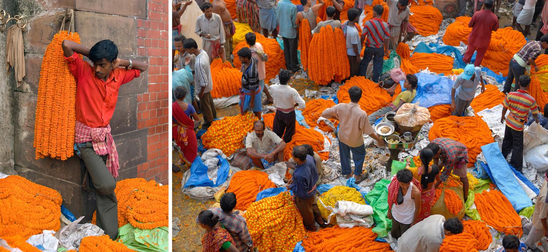 Howrah Station flower market, Kolkata, India