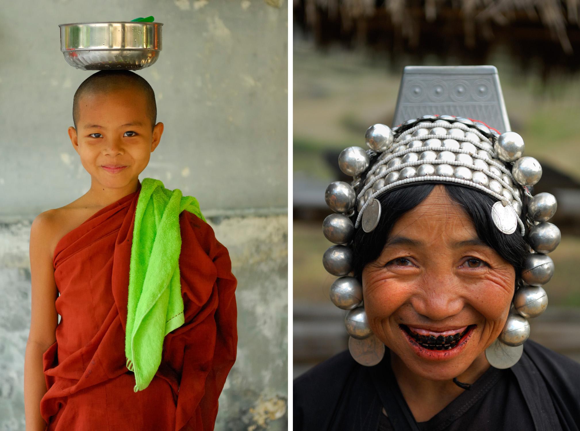 Mandalay (left) and Shan State, Myanmar