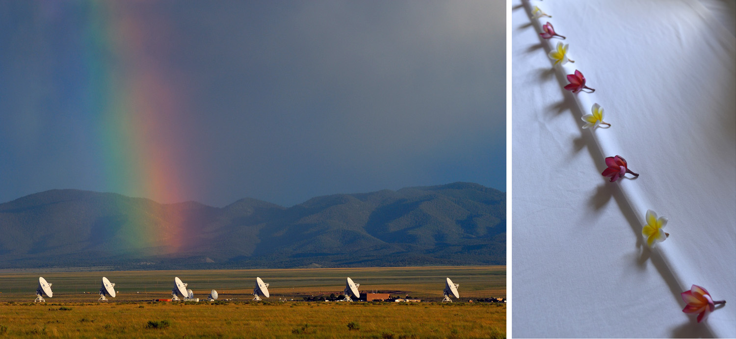 The Very Large Array, New Mexico (left) and The Vine Resort, Cambodia