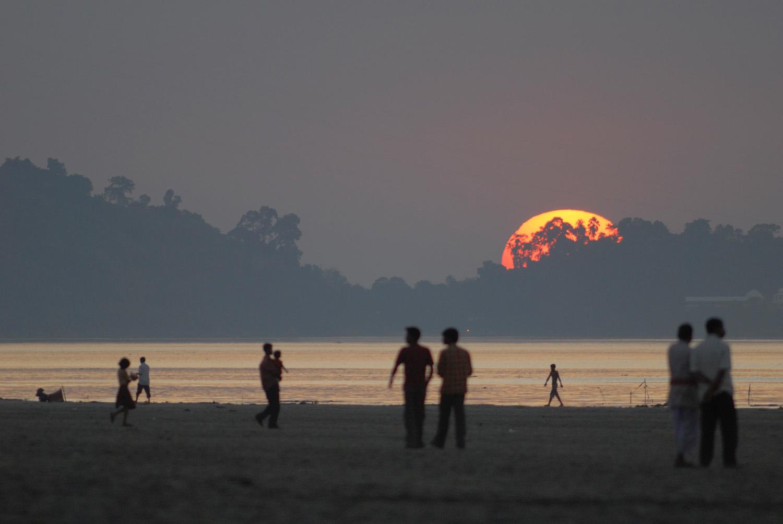 Sunset over the Brahmaputra, Guwahati, India