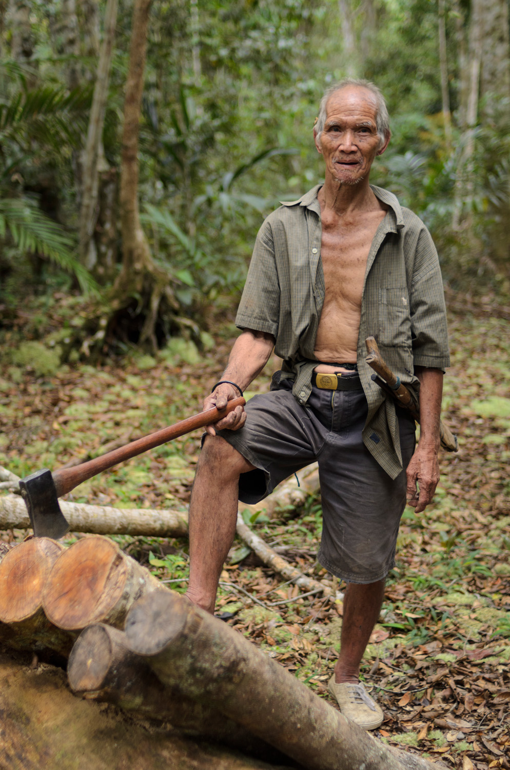 A portrait of Litah Ayo, an elderly Kelabit man who has carved his life out of the jungles around Pa Lungan, Sarawak, Malaysia.
