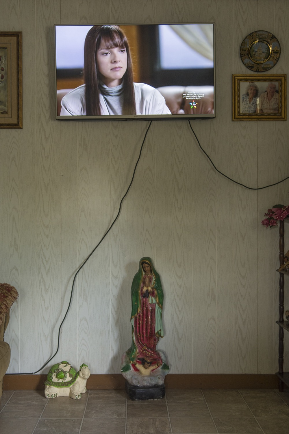Telenovelas play in the TV room of the Martinez home. Maria lives here with her mother, Juliana, and her father, Hermenegildo.©2018/Jerry Redfern