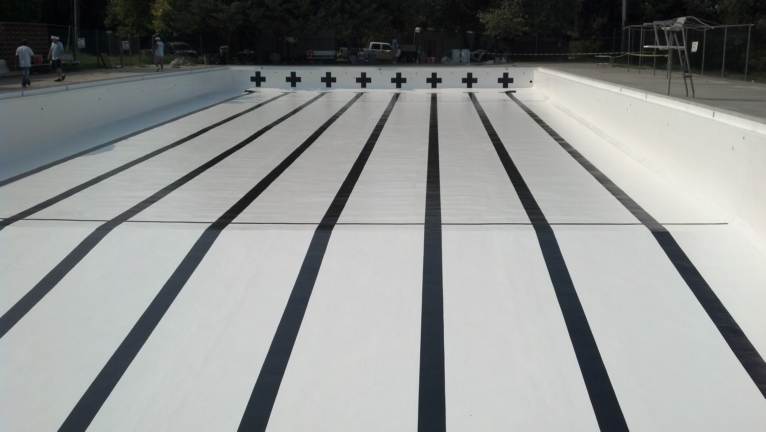 Completed Fiberglass Resurfacing with Advanced-Glass
