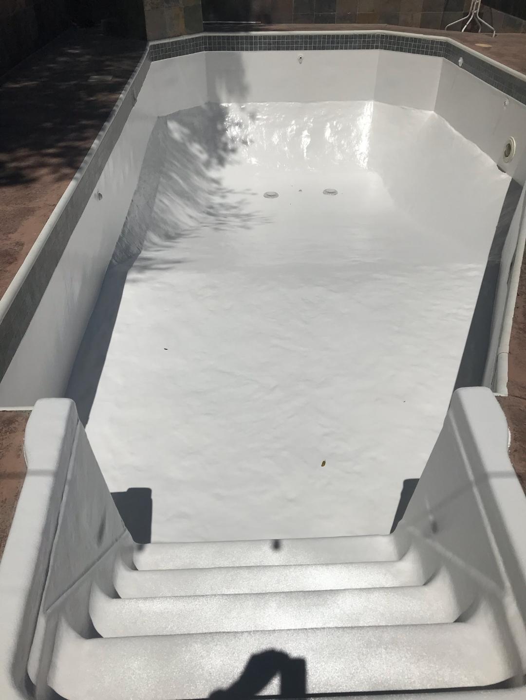 Vinyl Liner Pool Converted to Fiberglass
