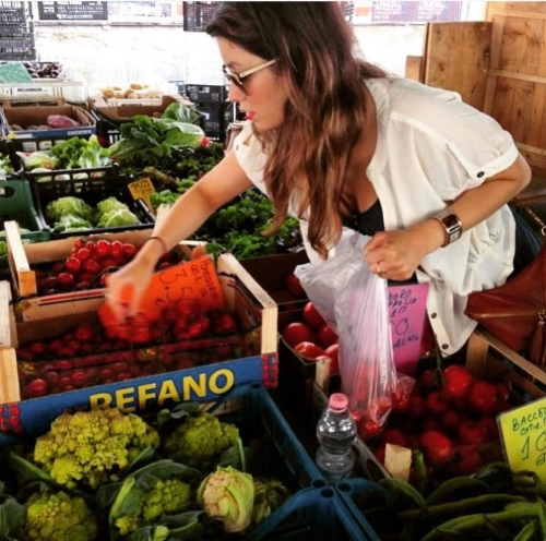 Shopping at the market in Sant'Ambrogio