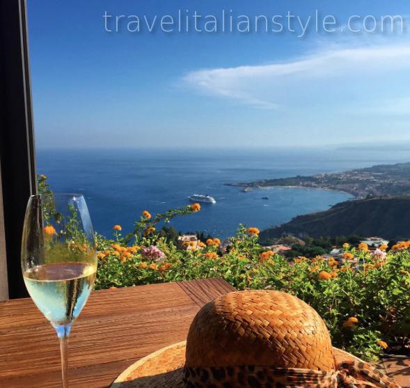 Relaxing view in Taormina, Sicily