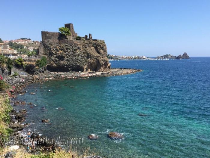 Exploring the beautiful coast of Catania, Sicily