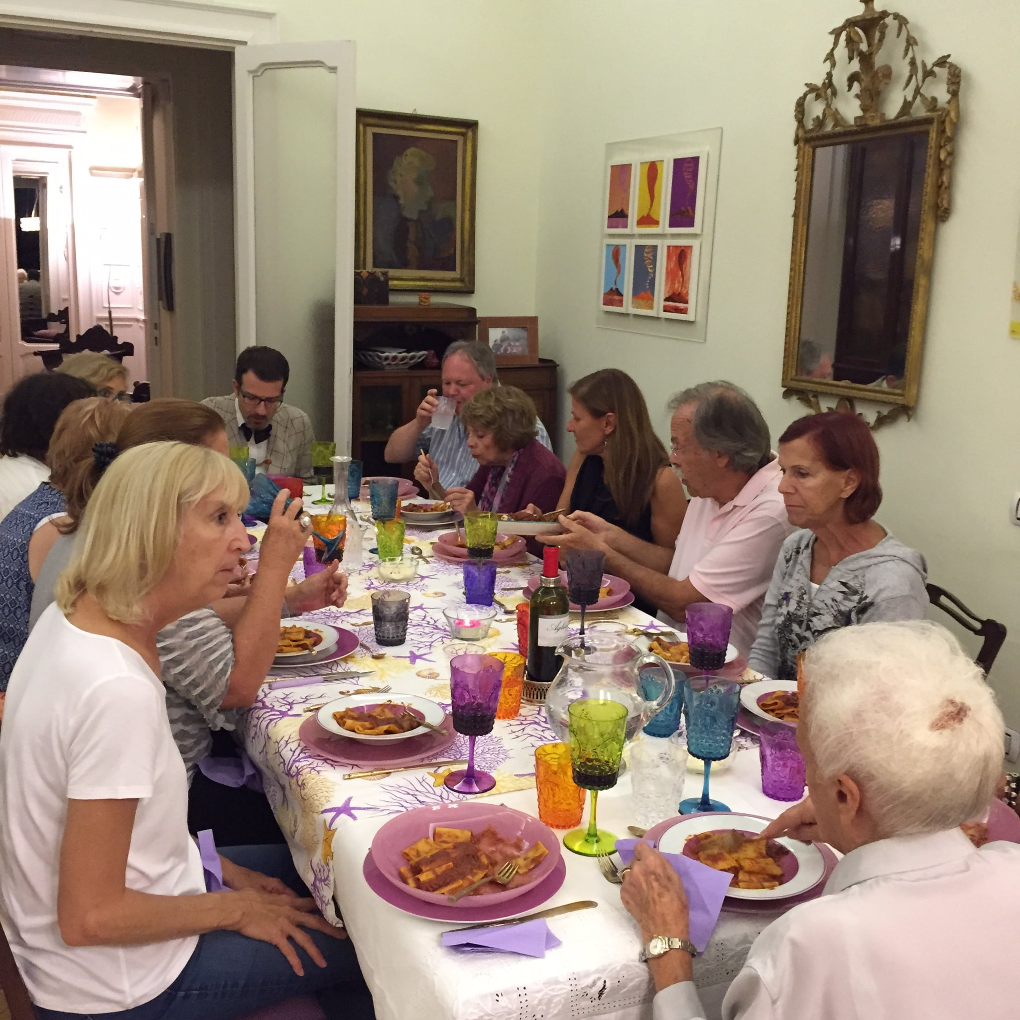 PHOTO TAKEN DURING A TRAVEL ITALIAN STYLE TOUR WHERE WE ENJOYED AN AUTHENTIC MEAL IN AN ITALIAN HOME IN NAPLES!!