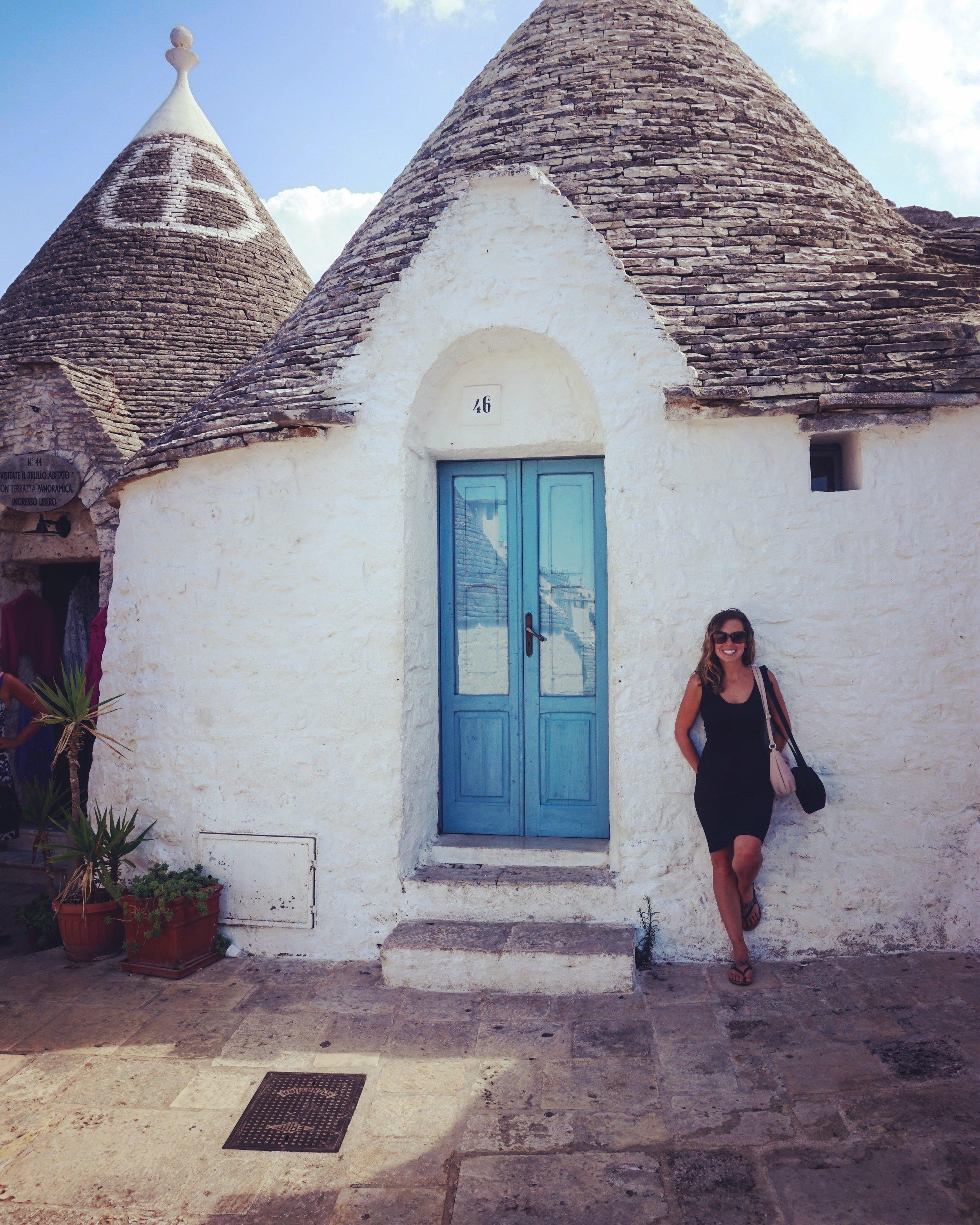 Cassandra in Alberobello Puglia Photo from Travel Italian Style.JPG