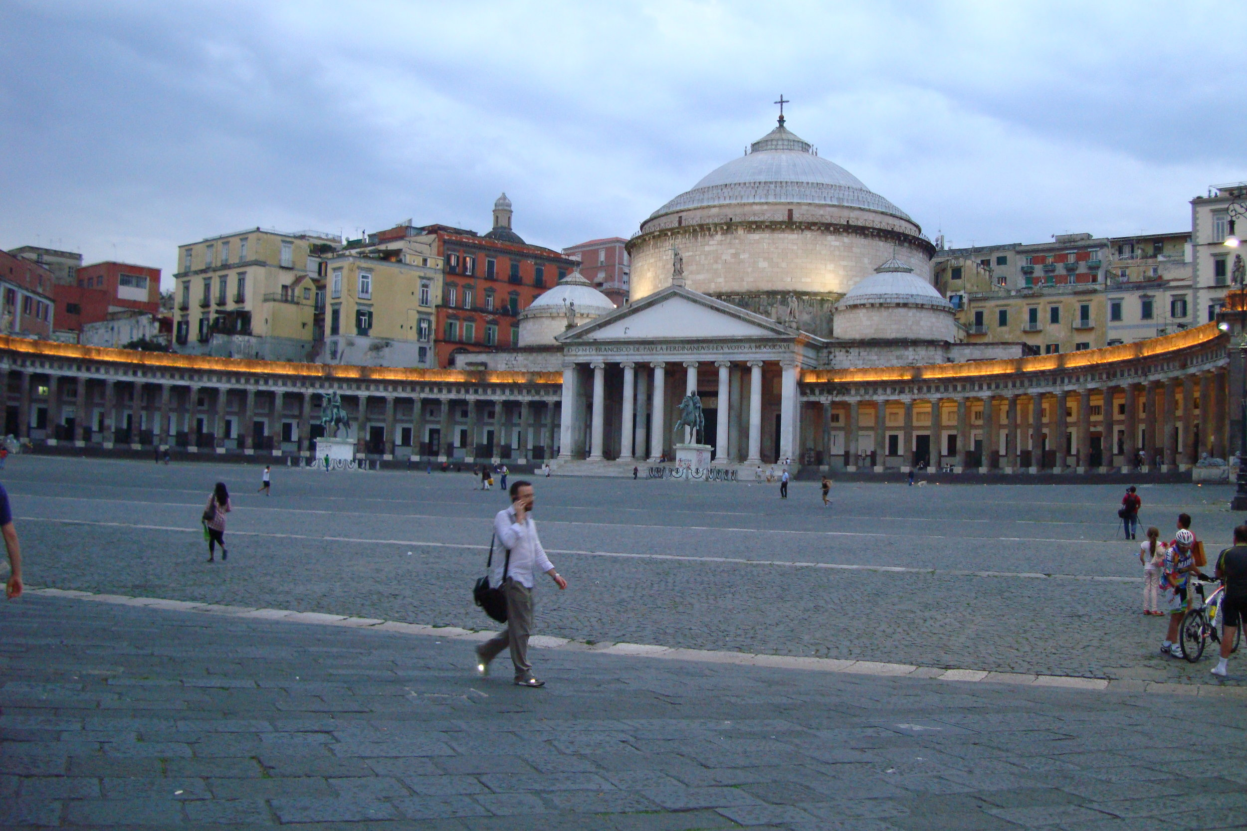 Photo by Travel Italian Style | Piazza del Plebiscito in Naples Italy