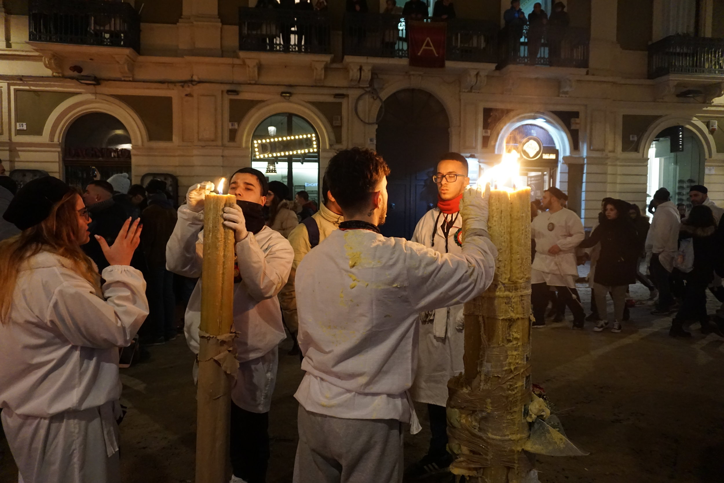 Devotees light and carry candles throughout the streets. Some say the larger the candle the bigger miracle St. Agata has brought into their life.  PICTURE BY TRAVEL ITALIAN STYLE