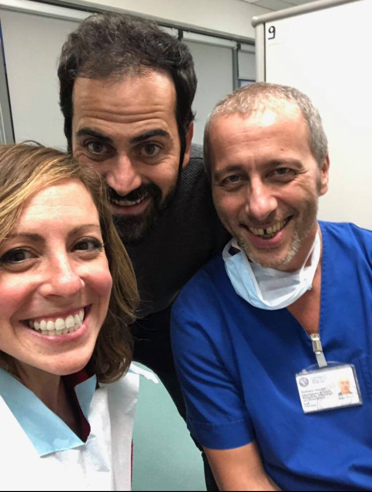 Post Surgery with my doctors in Milan - 2018