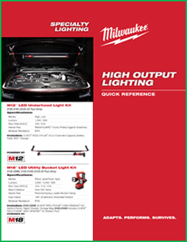High Output Lighting Quick Reference Catalog