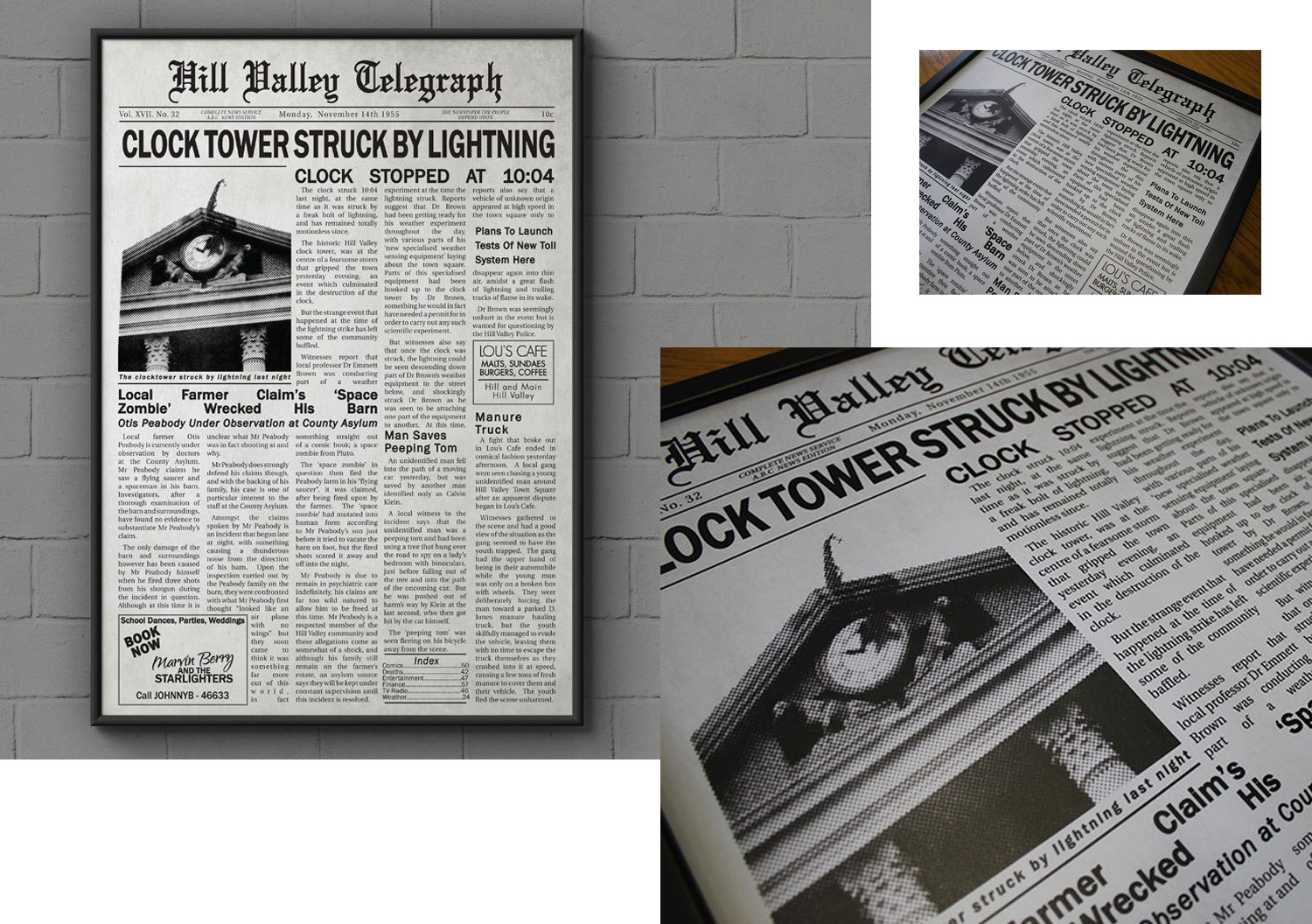 Hill Valley newspaper print by The Sloth Brain