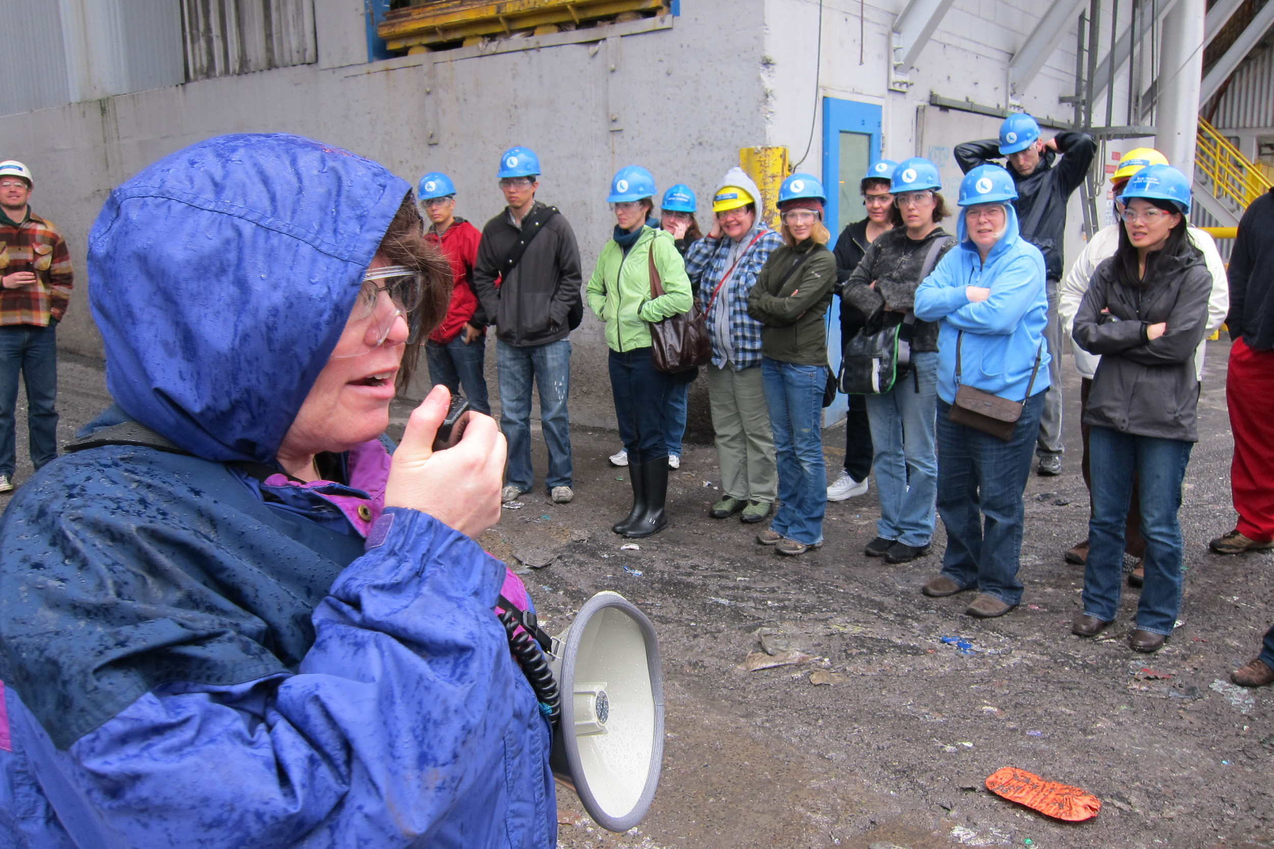 Janet takes Class 48 on Tour of Blue Heron Paper mill