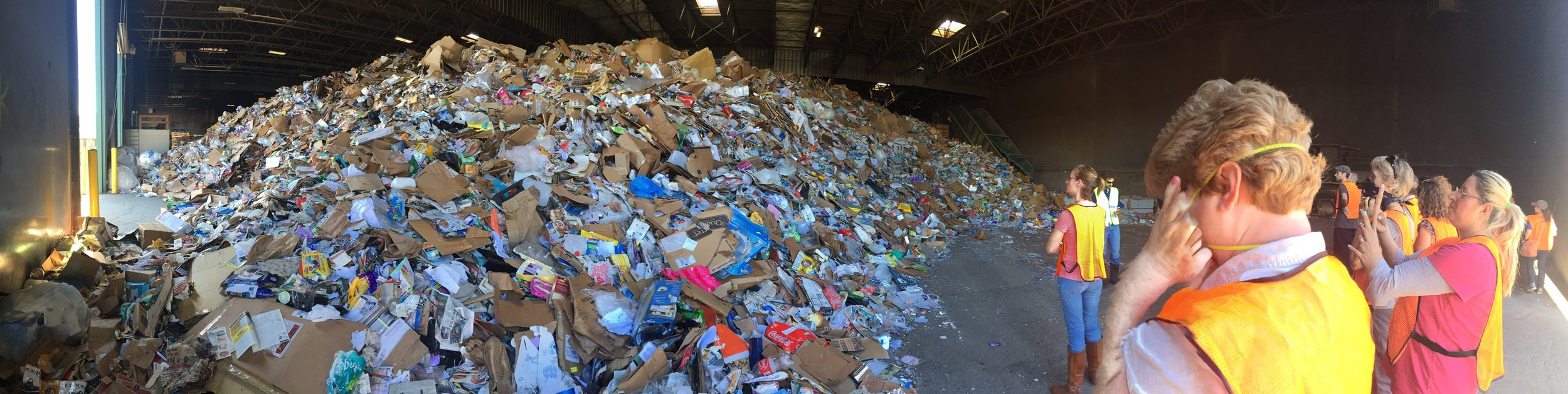 Piles of materials at a Material Recovery Facility (2015)