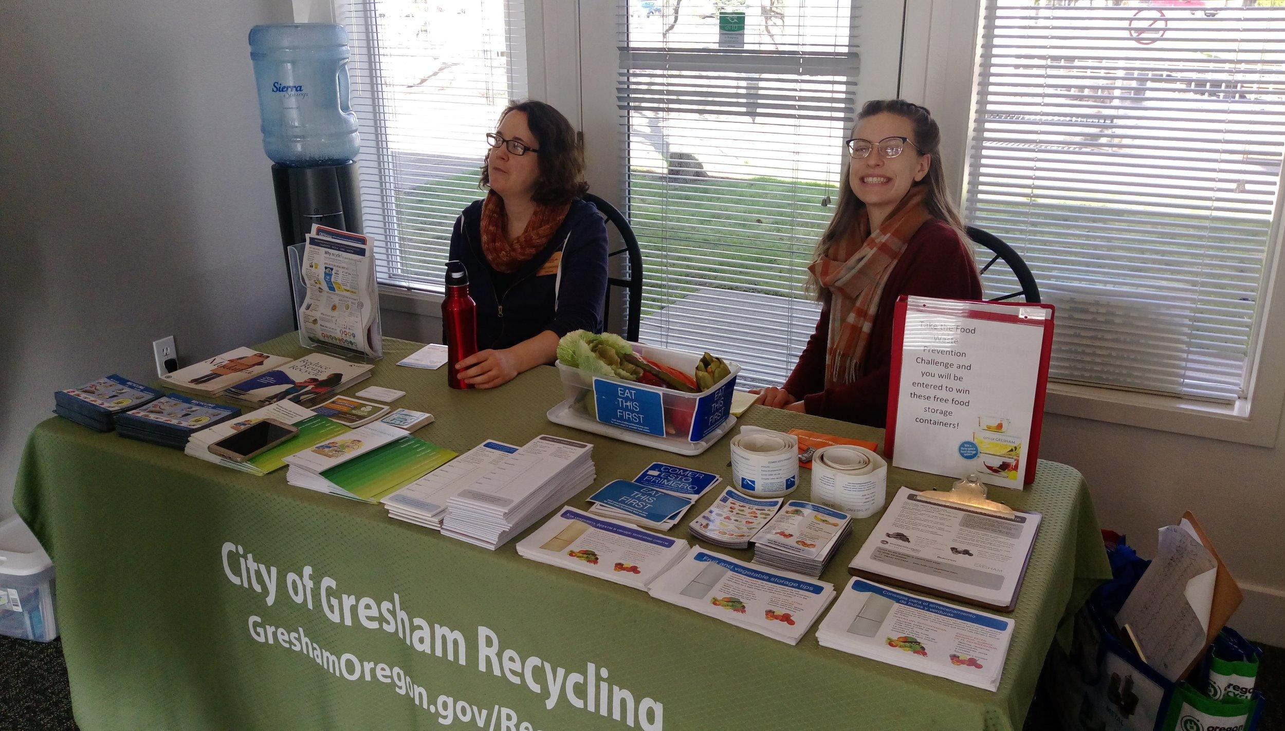 Janet (left) with fellow volunteer.