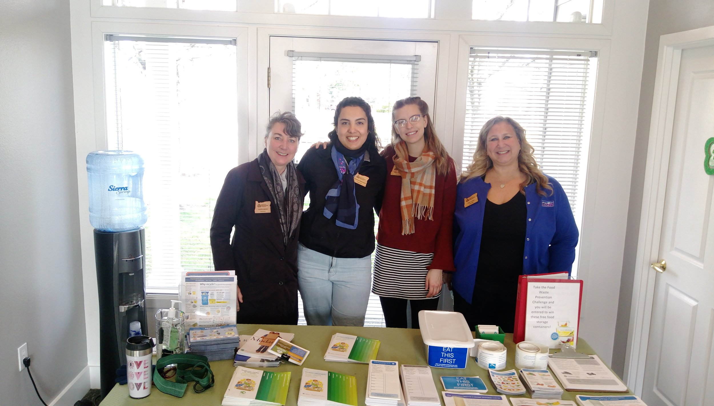 Emma (second to the right) at an event she invited fellow classmates to join.