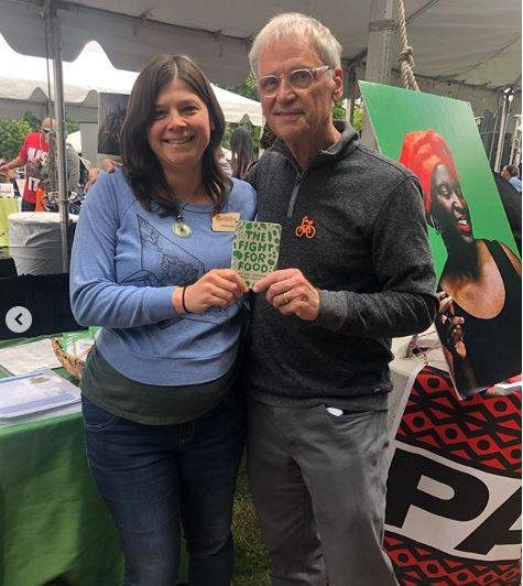 Katie with Congressmen Earl Blumenauer who shared his enthusiasm for food and sustainability.