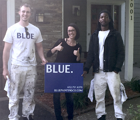 Painting contractor MN - BLUE.