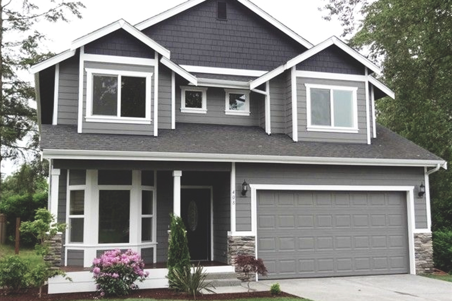 BLUE EXTERIOR HOUSE PAINTER