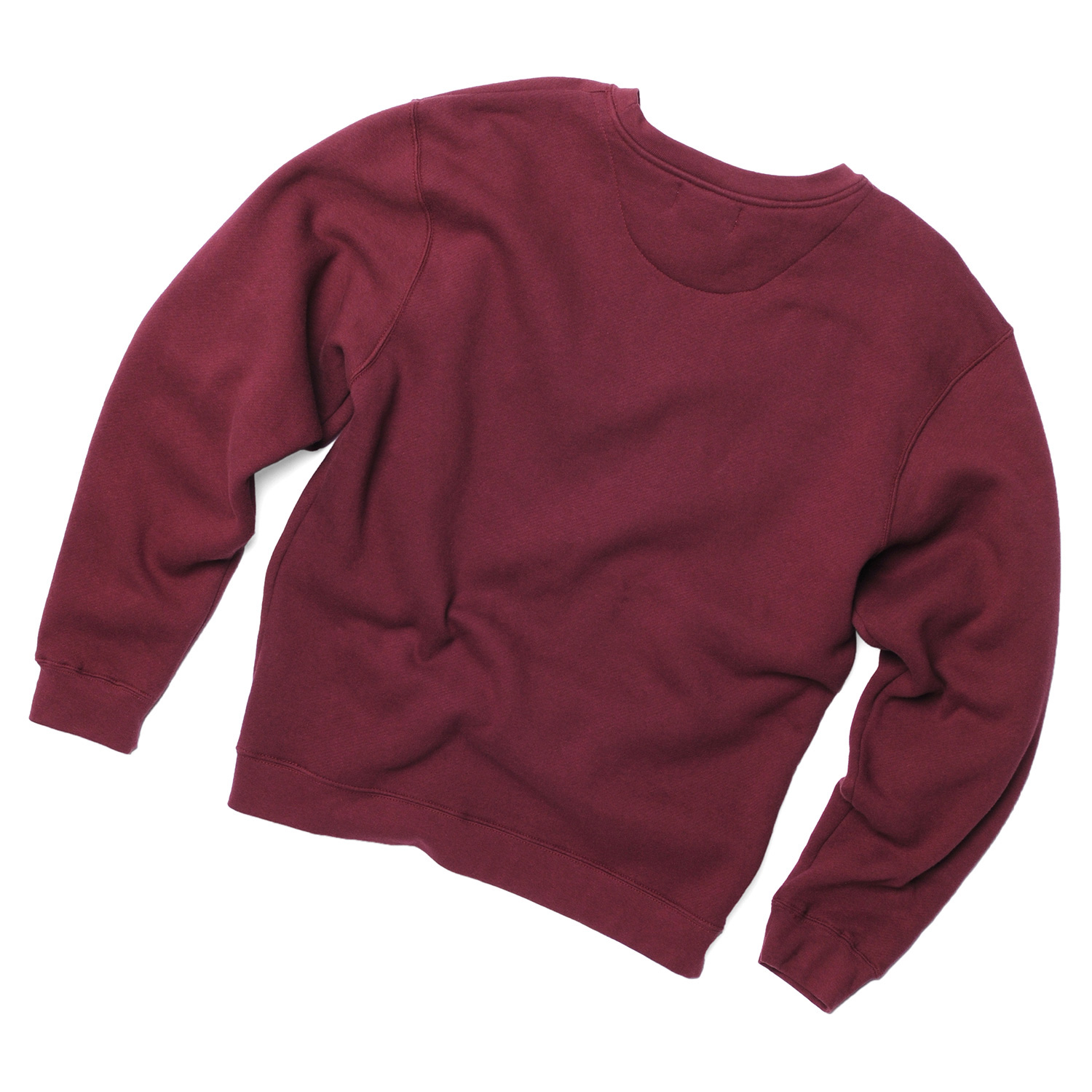 2-Heavyweight-Fleece-Crewneck-Sweater,-Maroon,-Back.jpg