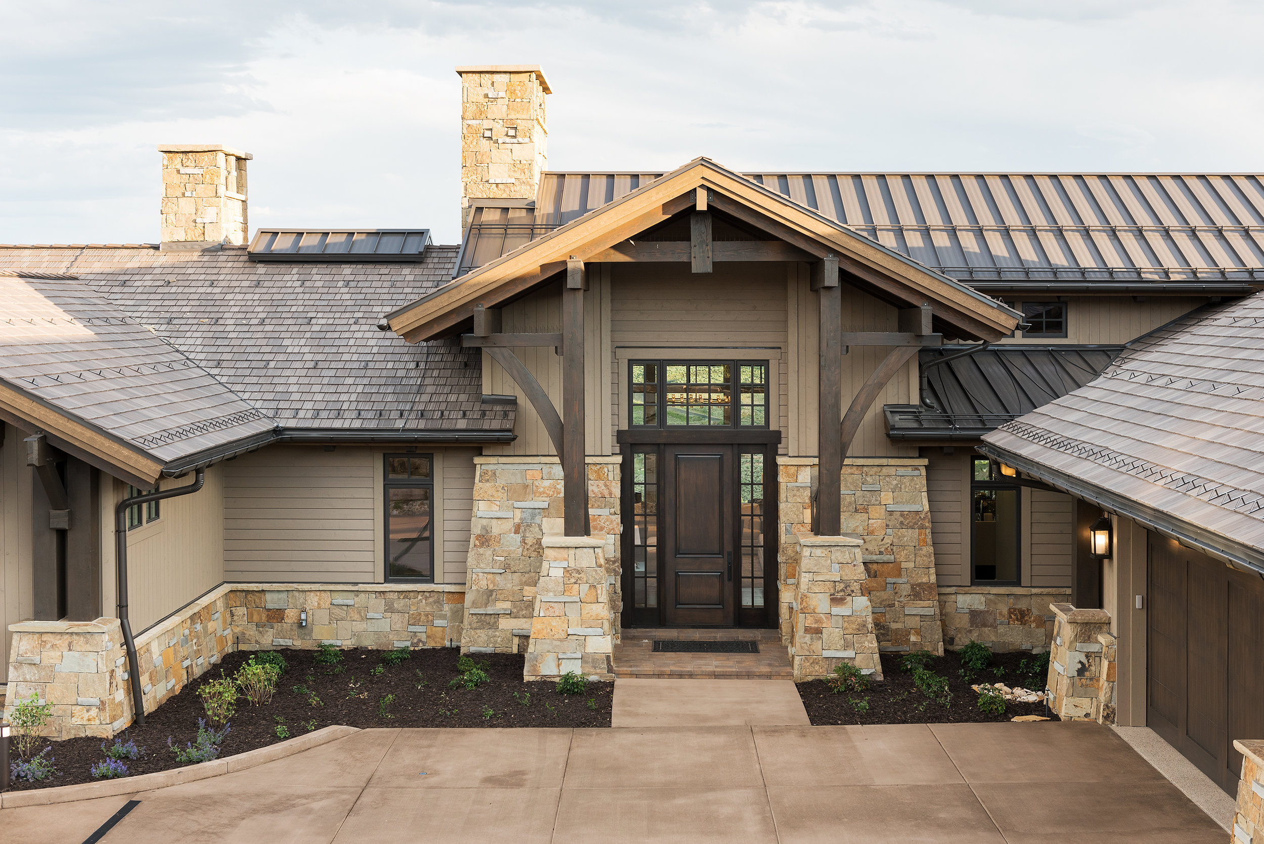 The beautiful exterior finishes were created and planned around the owners needs and dreams.