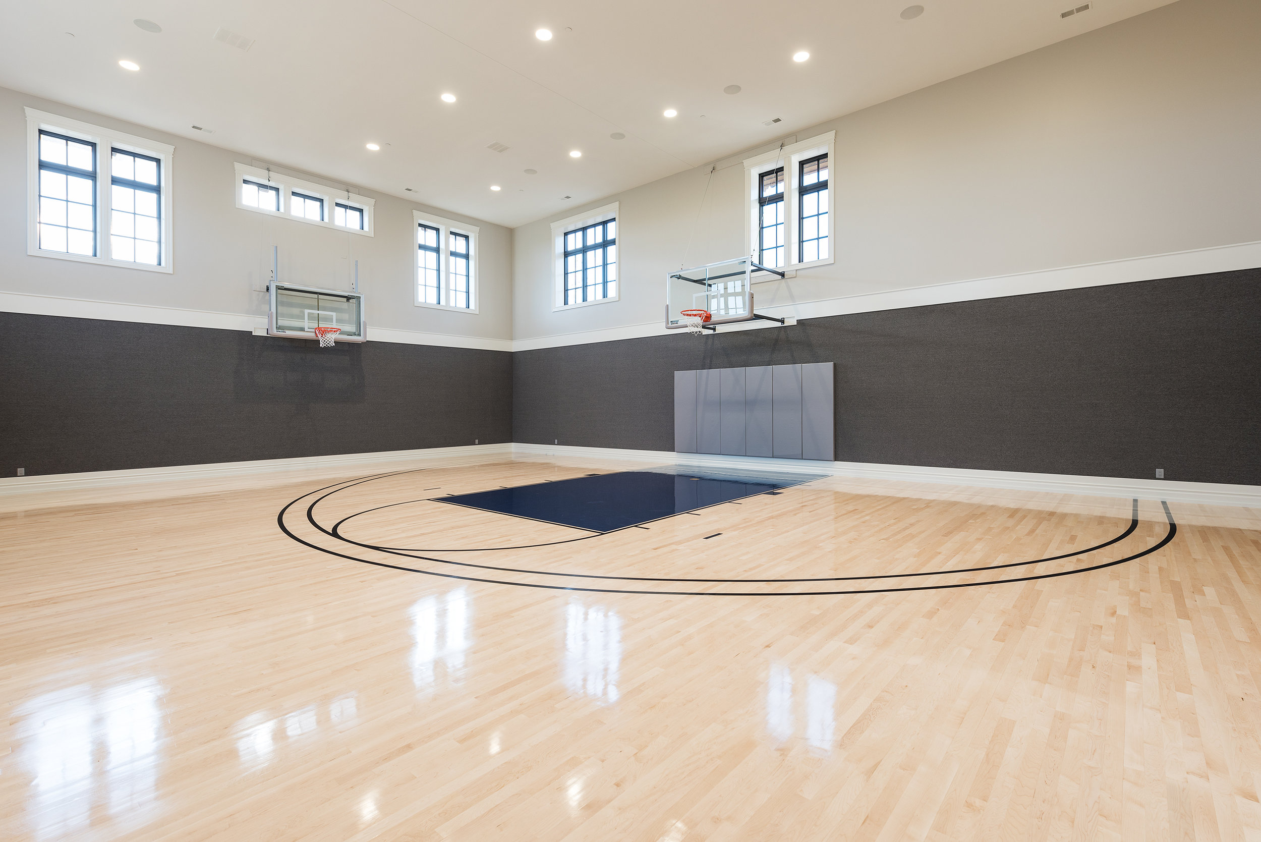 Spacious Indoor Basketball Court