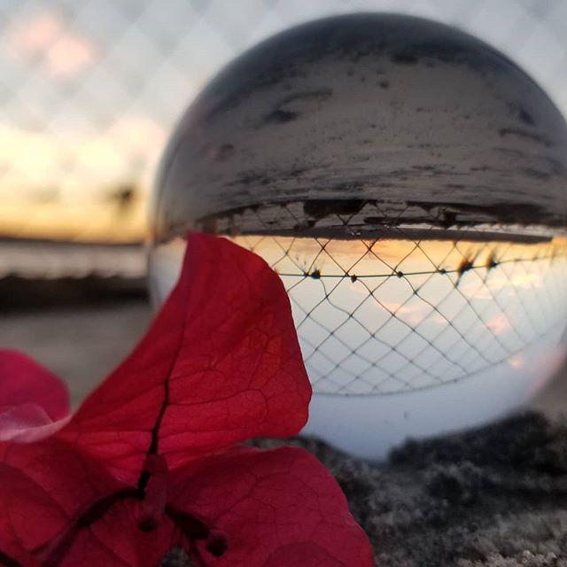 Playing with my new toy - photos through a crystal ball! #sunsets #beach #crystalball #california #coronado