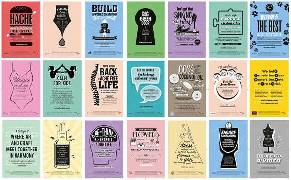 All of our beautiful Microloan tube posters together...