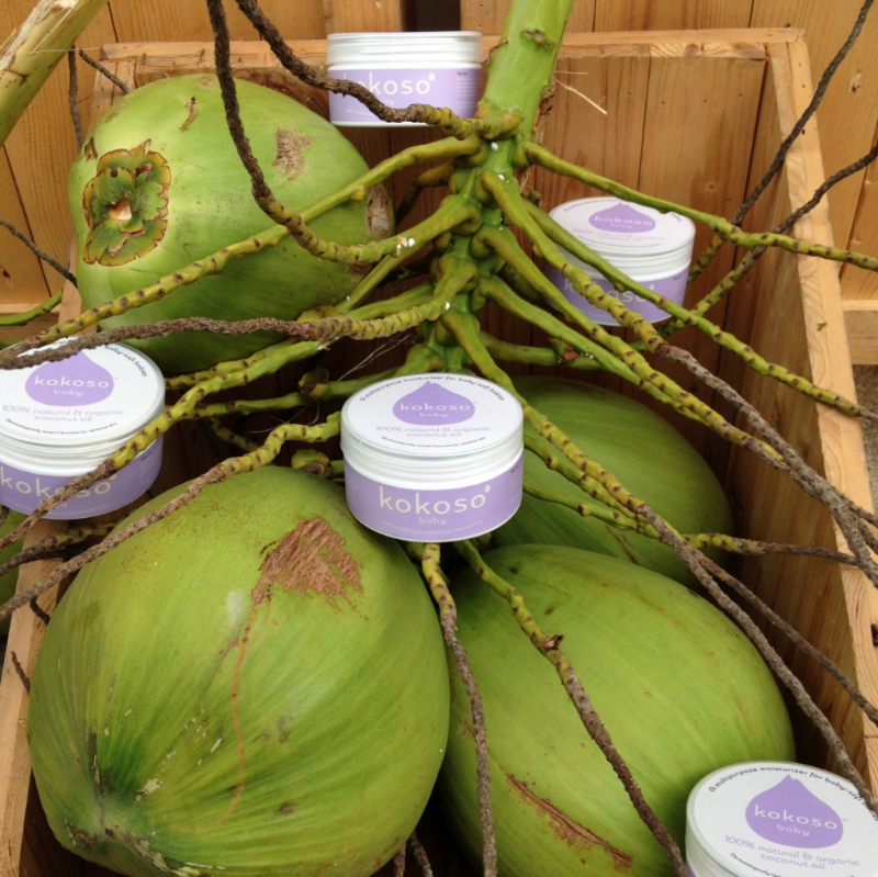 Each pot of Kokoso Baby contains the multipurpose moisturising powers of three organic coconuts.