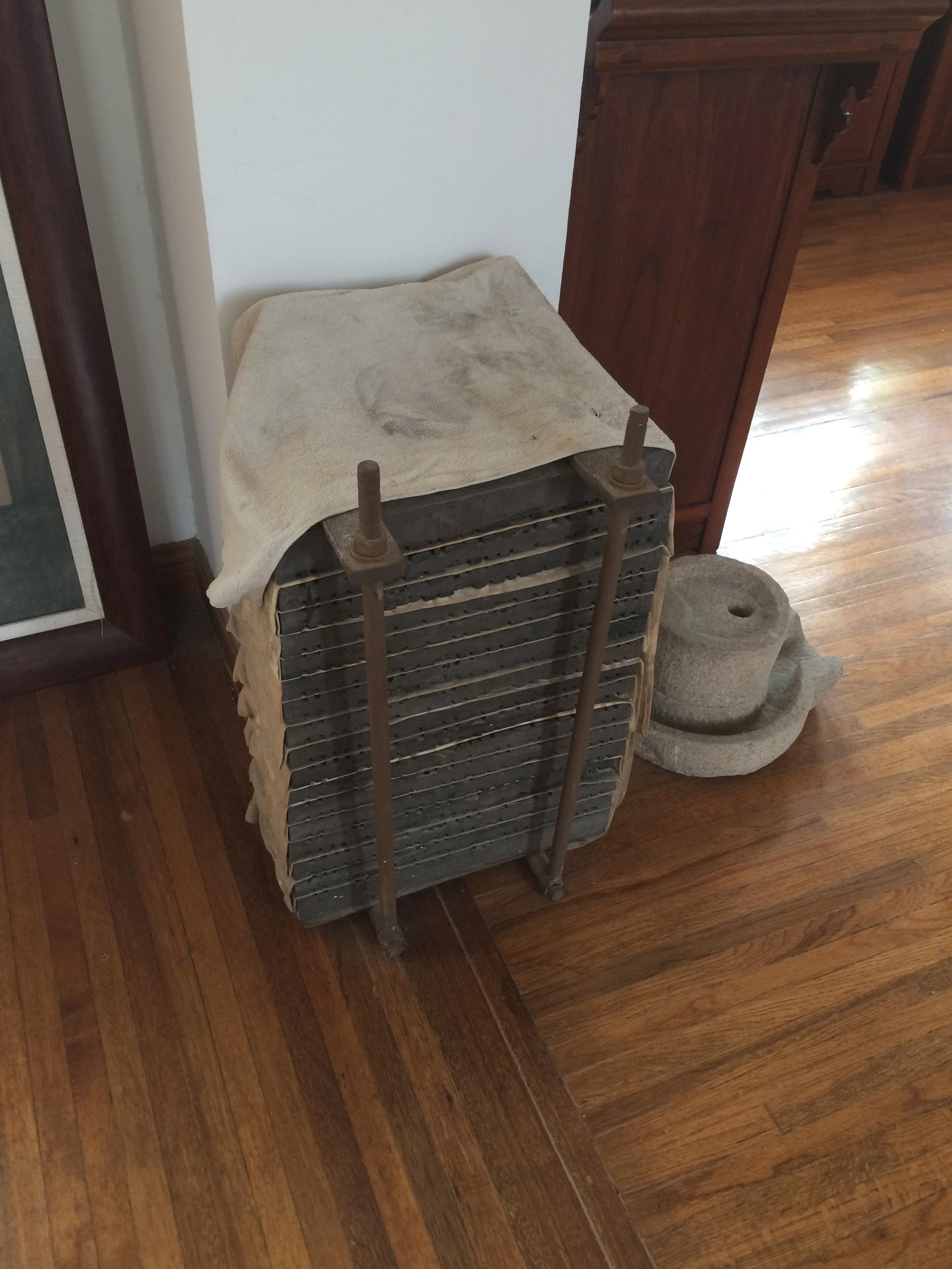 Nankeen textile printing blocks