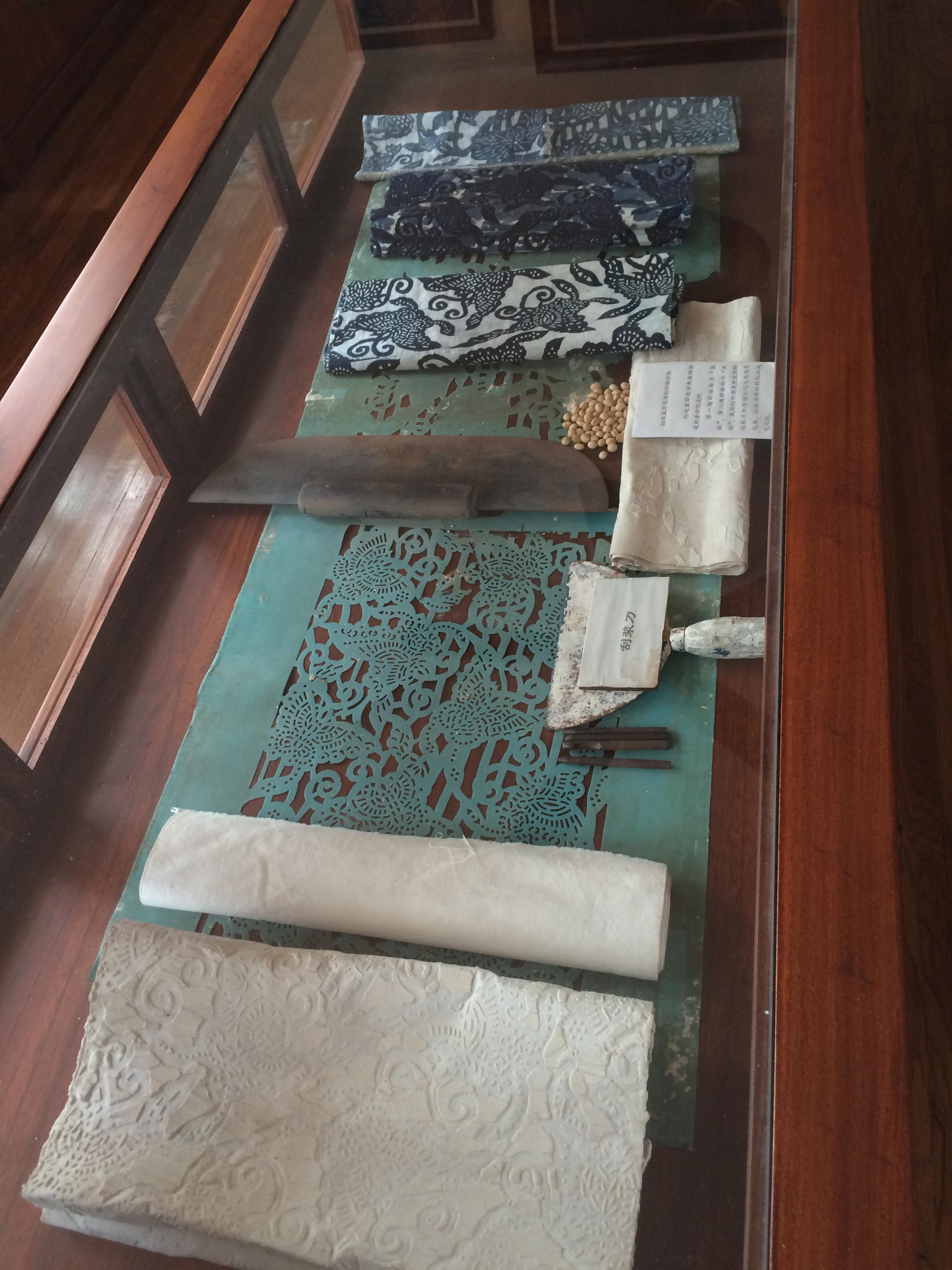 Nankeen textile printing tools