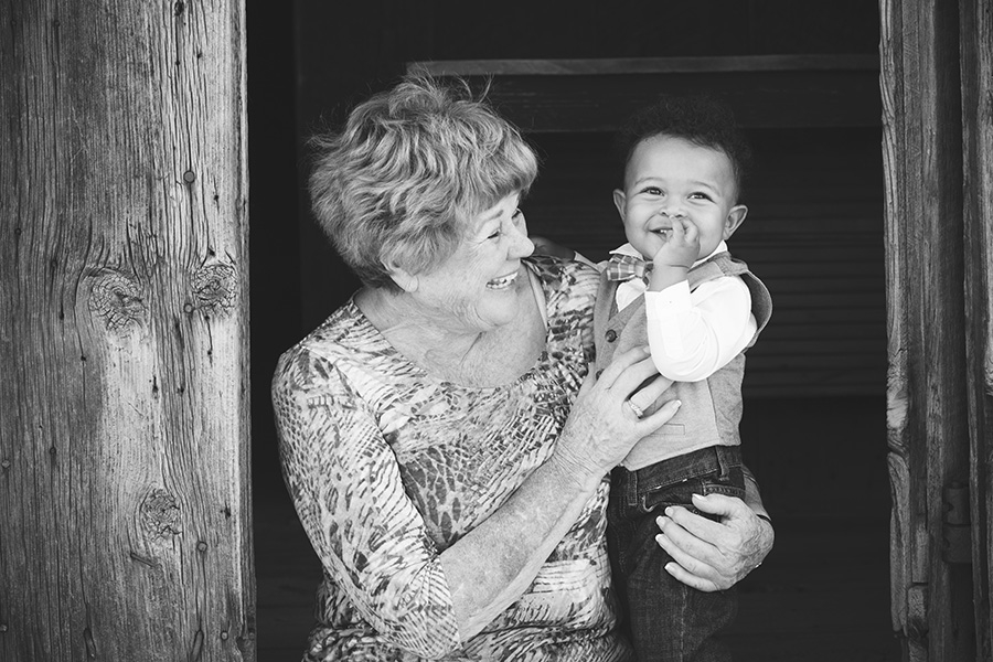 I love this photo of Baby and grandmother <3